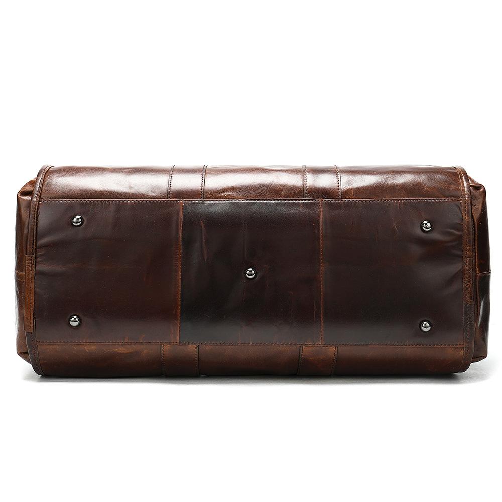 Túi da bò du lịch 342 thời trang du lịch cá nhân màu nâu cafe