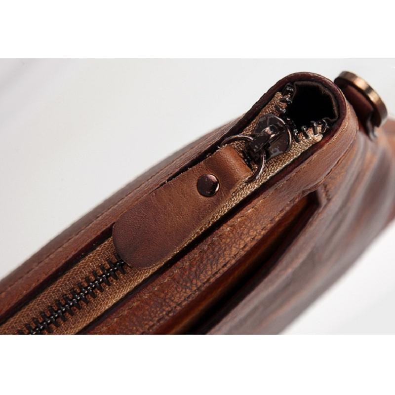 Túi da cầm tay 176 da bò sơn điện ly cao cấp sang trọng