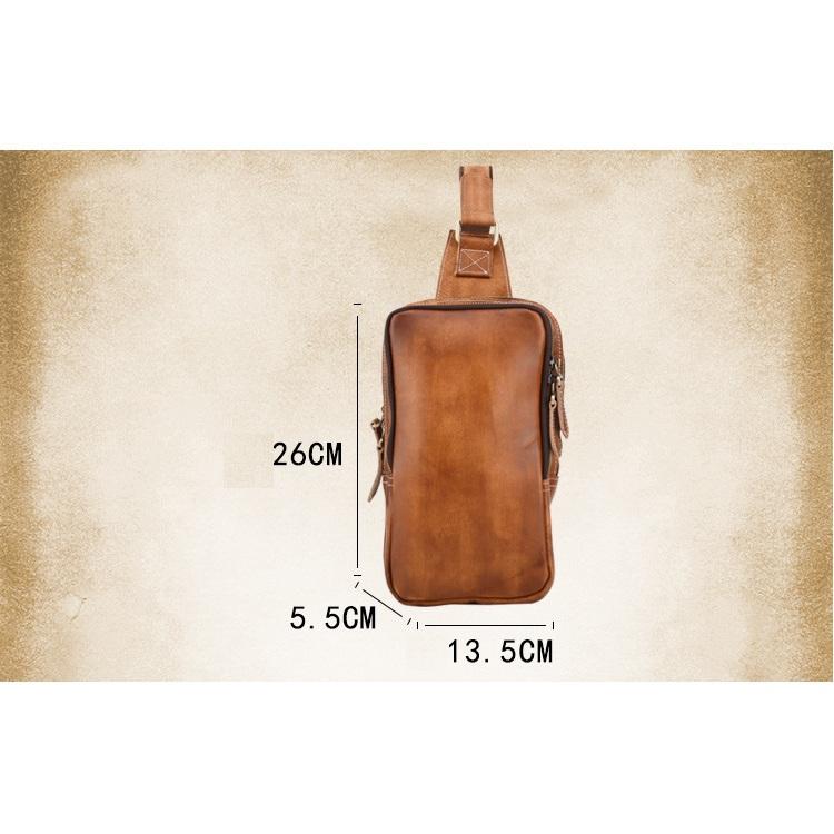 Túi da đeo bụng da bò 203 thời trang da nhuộm cao cấp