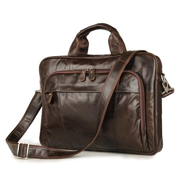 Túi xách công sở da bò 546 sang trọng cổ điển lịch sự laptop 15''