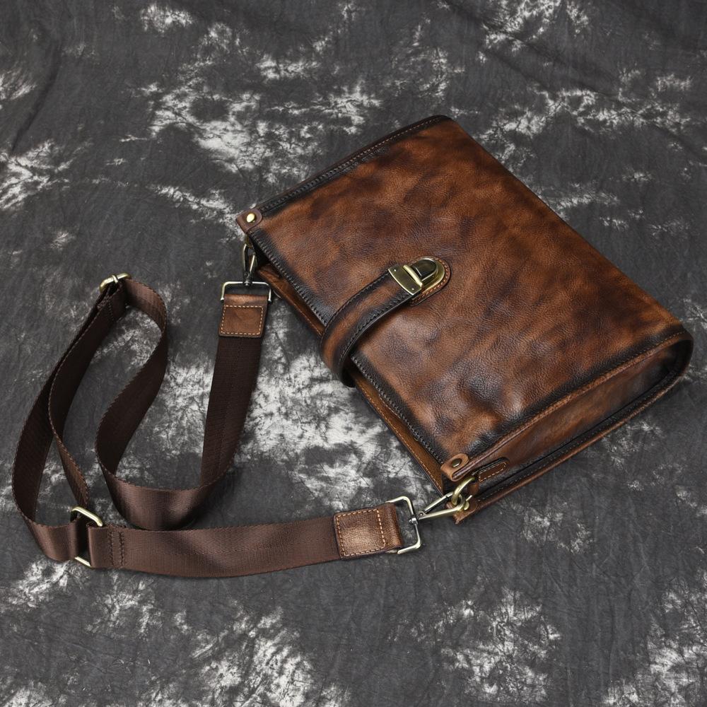 Túi da bò đeo chéo 149 thời trang đựng Ipad 10.5''