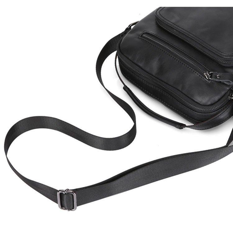 Túi xách da bò dây đeo chéo 362 màu đen quai xách tay
