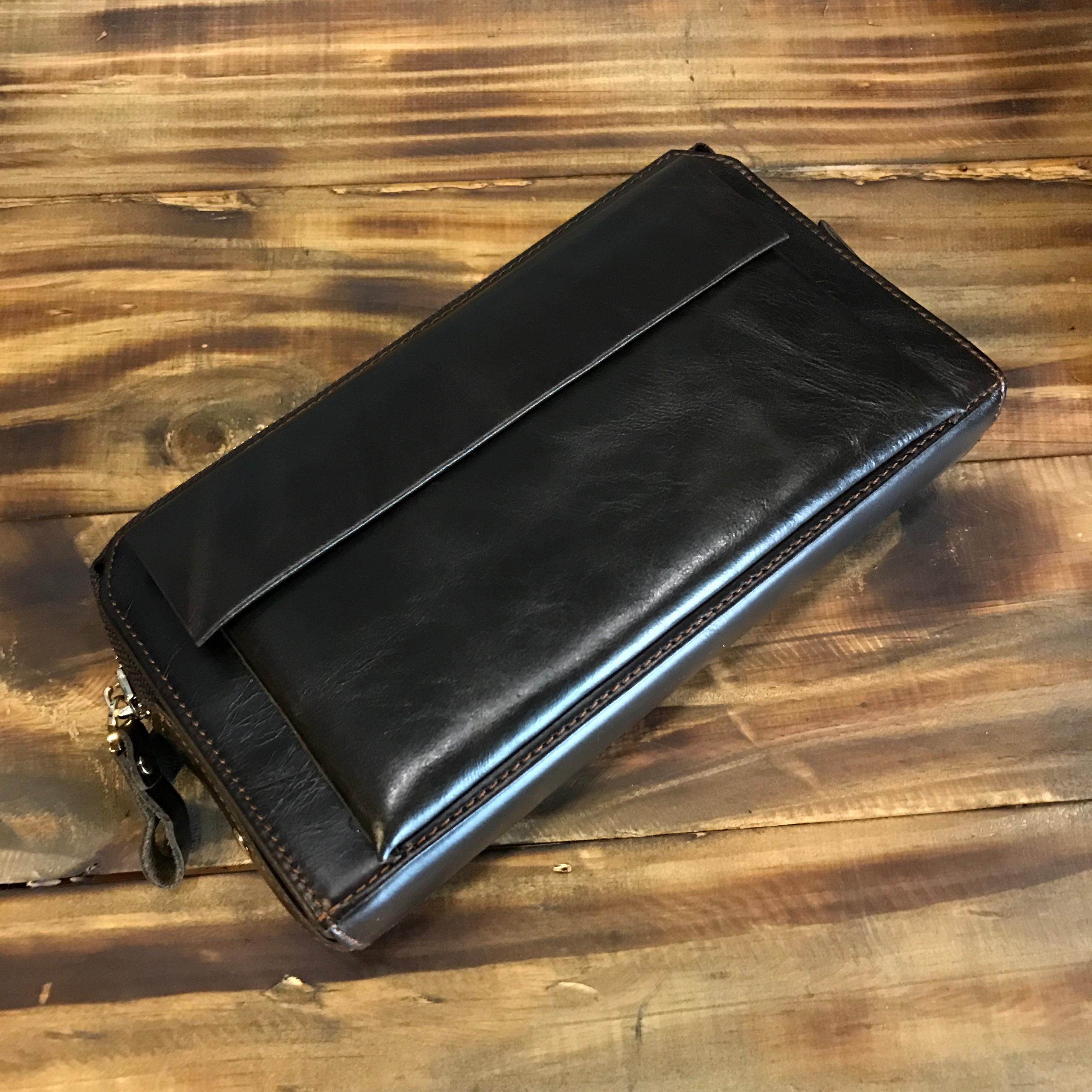Ví dài nam da bò 030 đựng điện thoại giấy tờ thẻ card