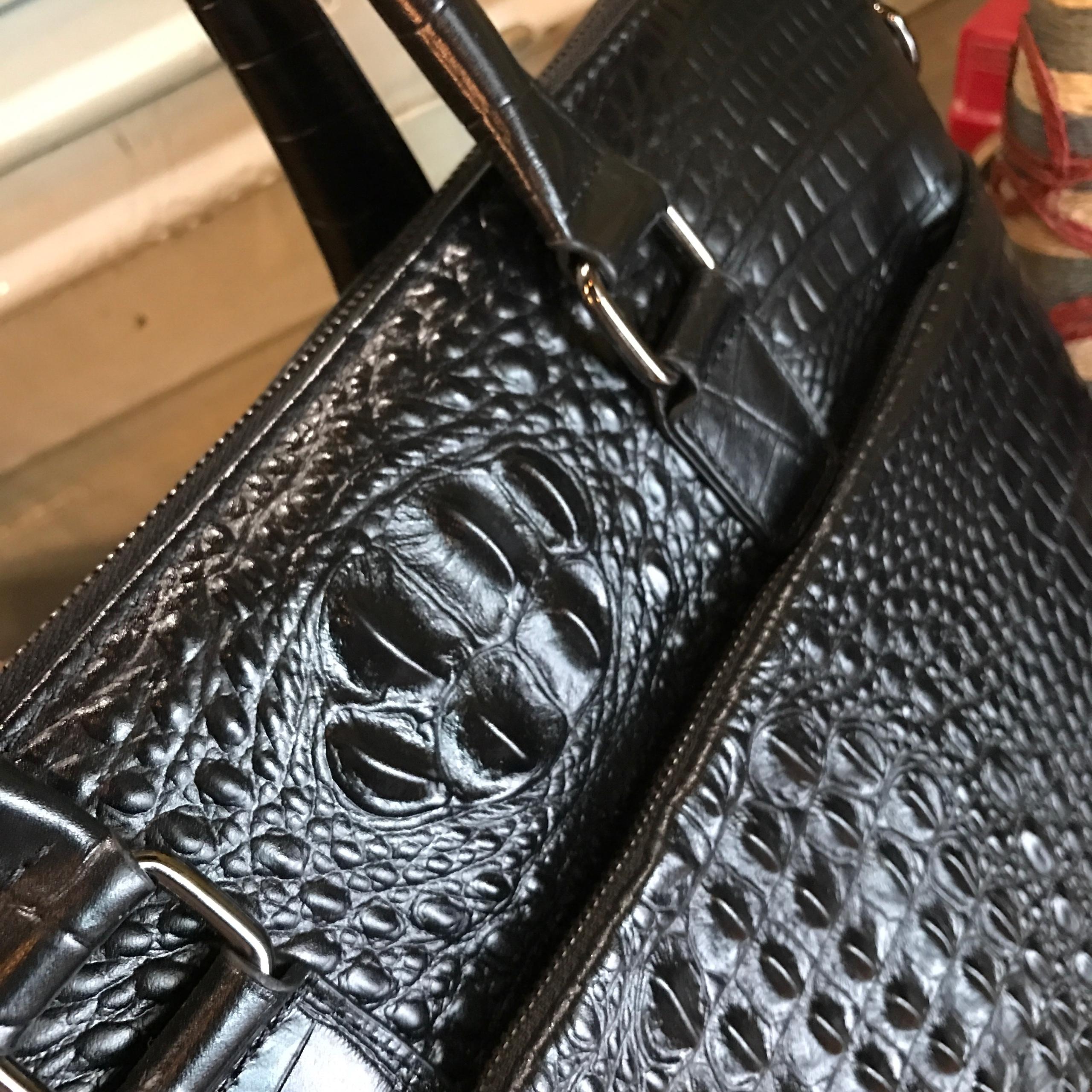 Túi xách công sở da bò vân cá sấu #267 sang trọng