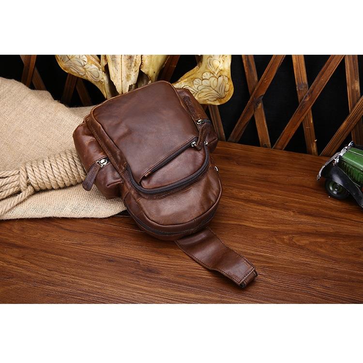 Túi bao tử da bò đeo chéo 400 nhỏ gọn thời trang