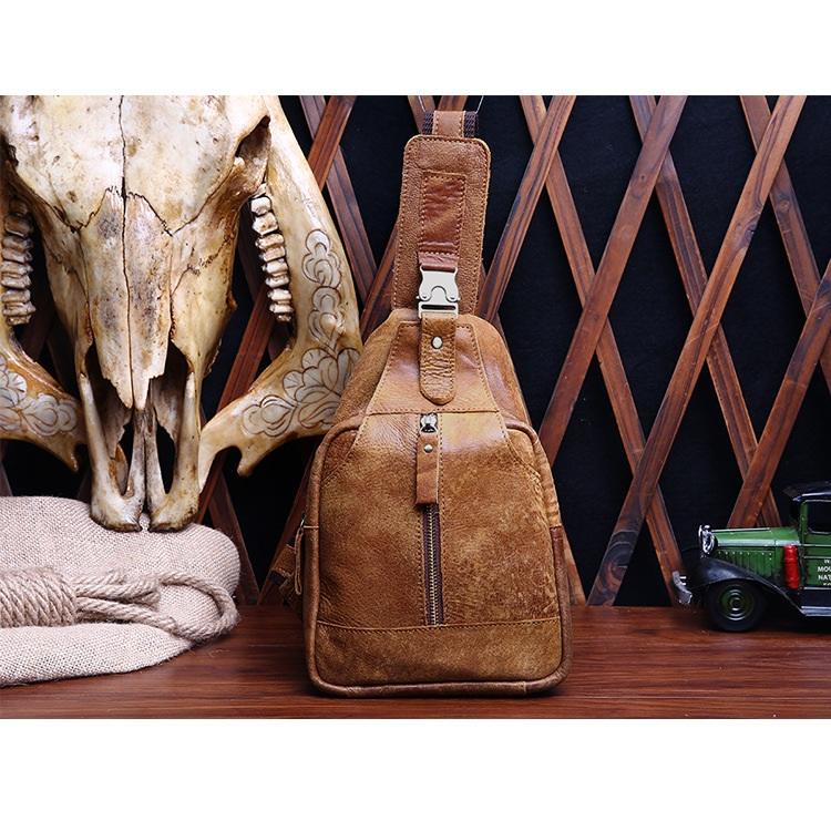 Túi đeo bụng da bò 262 thời trang tiện lợi