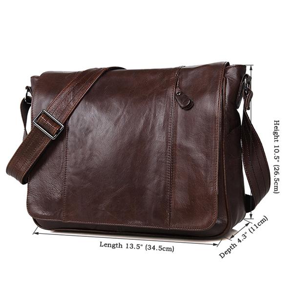 Túi đeo chéo da thật 403 đựng laptop 13''