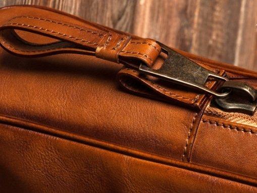 Túi da xách tay văn phòng 518 da bò công sở màu nâu cánh gián