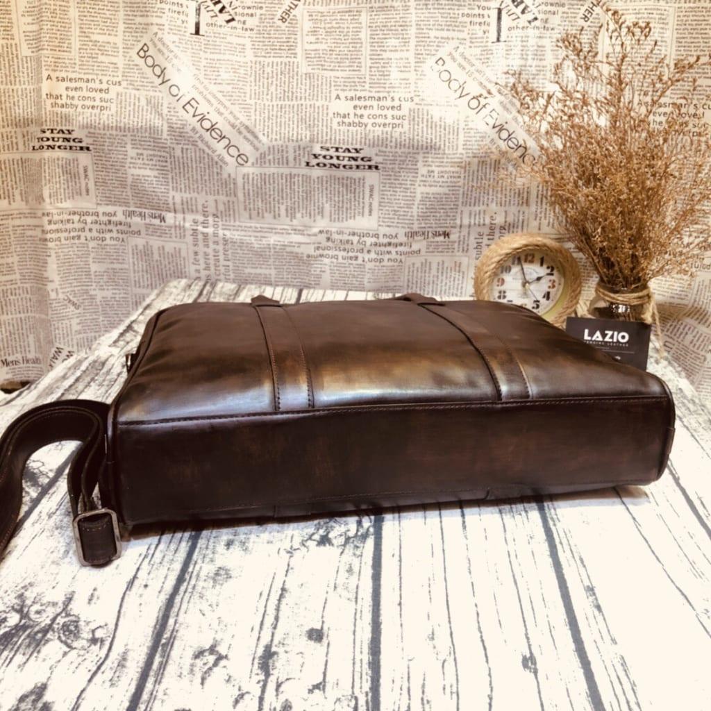 Túi da xách tay văn phòng 518 da bò công sở màu nâu đen