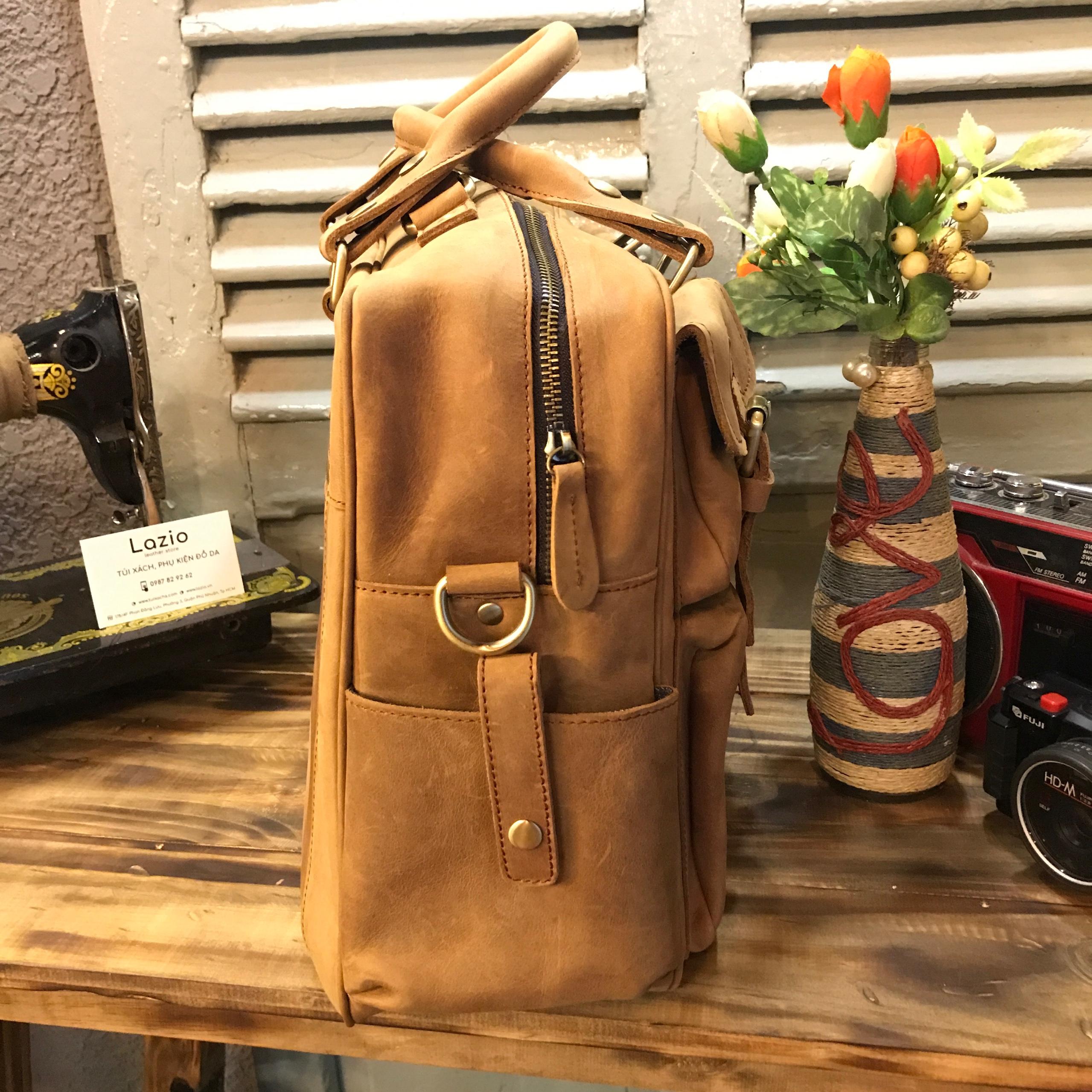 Túi xách laptop da bò 528 thích hợp công sở đi làm, hội họp, công tác