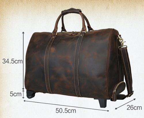 Vali kéo tay da bò 607 cần kéo tiện dụng khi đi du lịch