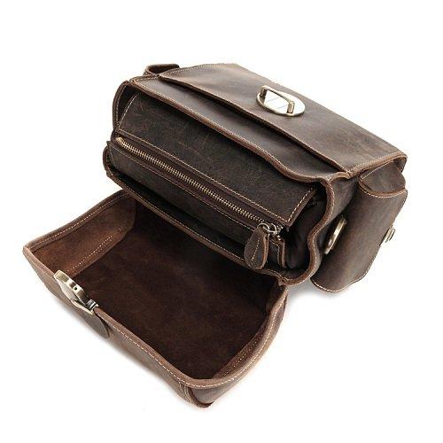 Túi quai xách da bò đựng máy ảnh 429 đựng thân máy và ống kính
