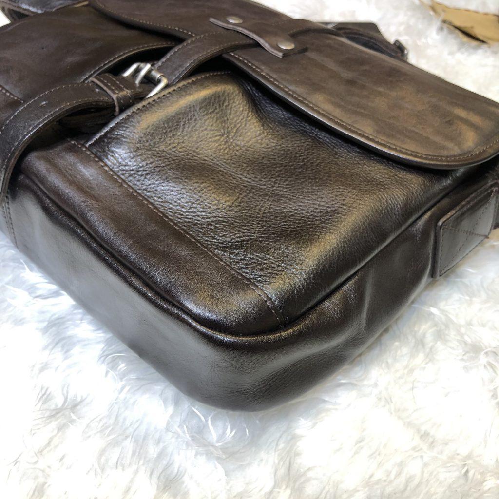 """Túi da bò cao cấp 436 da sơn cao cấp nâu đen đựng laptop 13.3"""""""