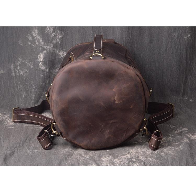 Túi xách du lịch da bò 371 dây balo đa năng màu nâu đất