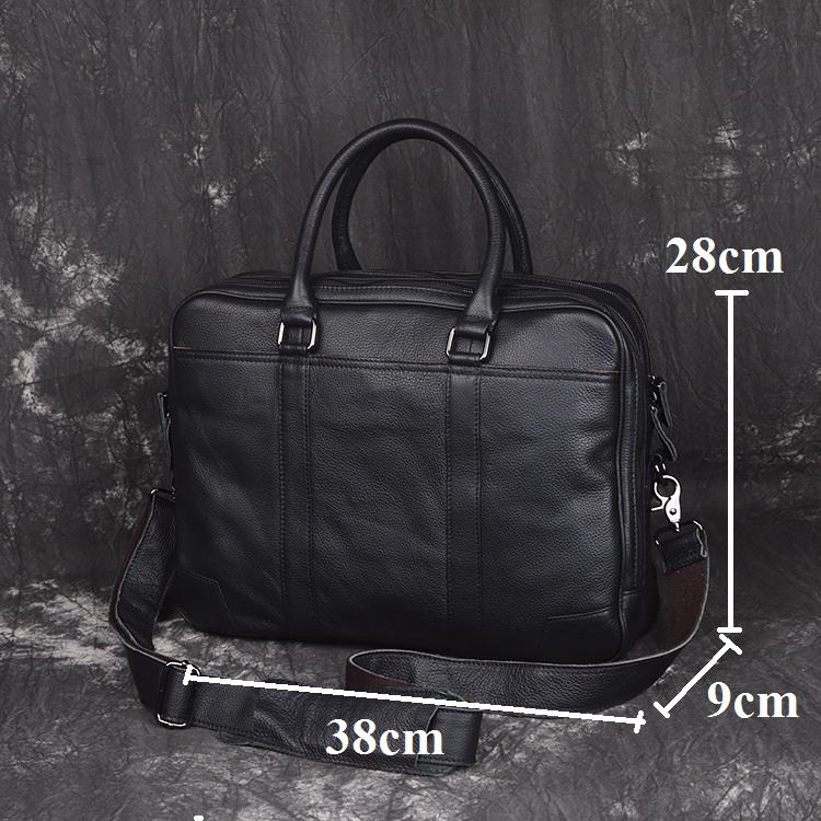 Túi xách laptop da bò 541 sang trọng lịch sự màu đen