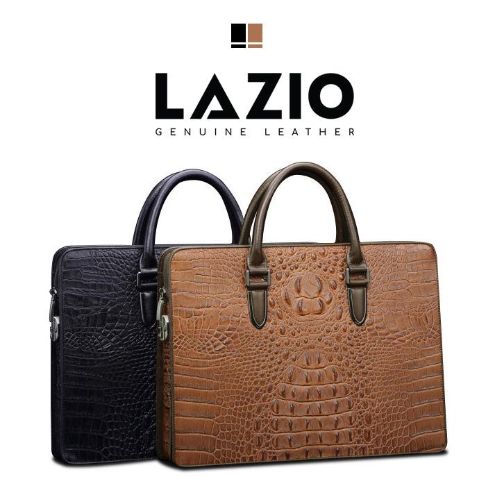 Cặp da cá sấu cao cấp thương hiệu LAZIO