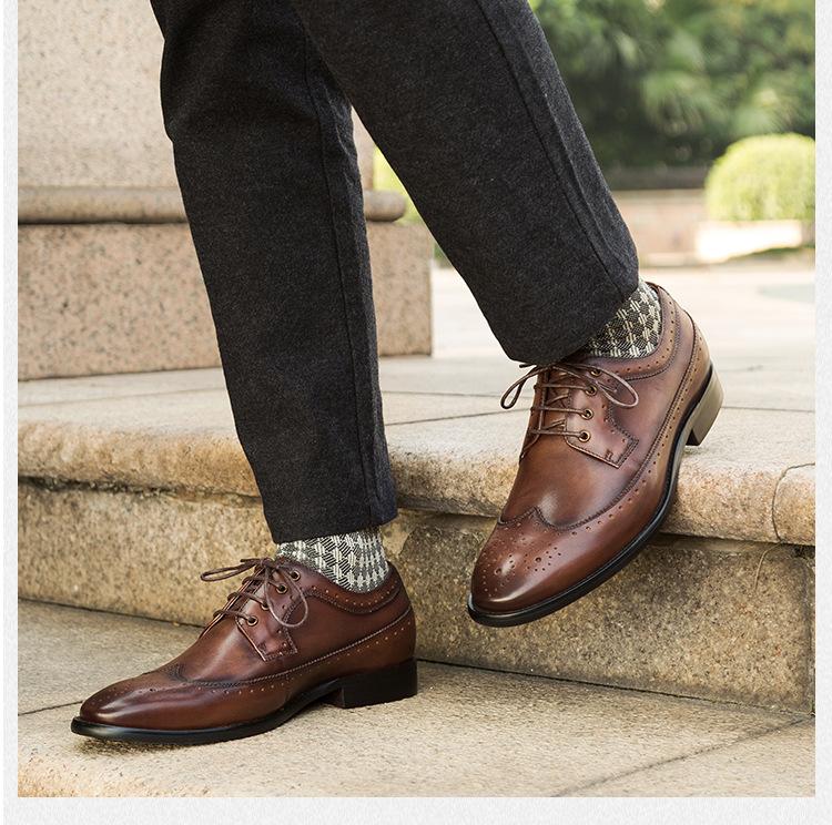 Giày da dây thoát thoáng khí GD013 thanh lịch cho ngày năng động