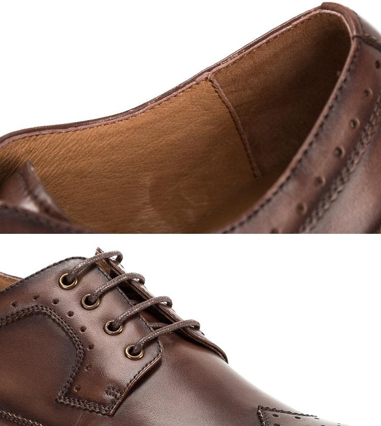 Giày da dây thắt thoáng khí GD013 thanh lịch cho ngày năng động