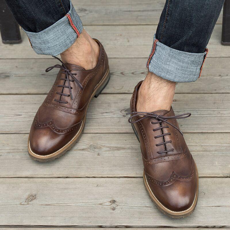 Giày da nam Oxford cao cấp GD007 sang trọng, đẳng cấp, ăn gian chiều cao lý tưởng