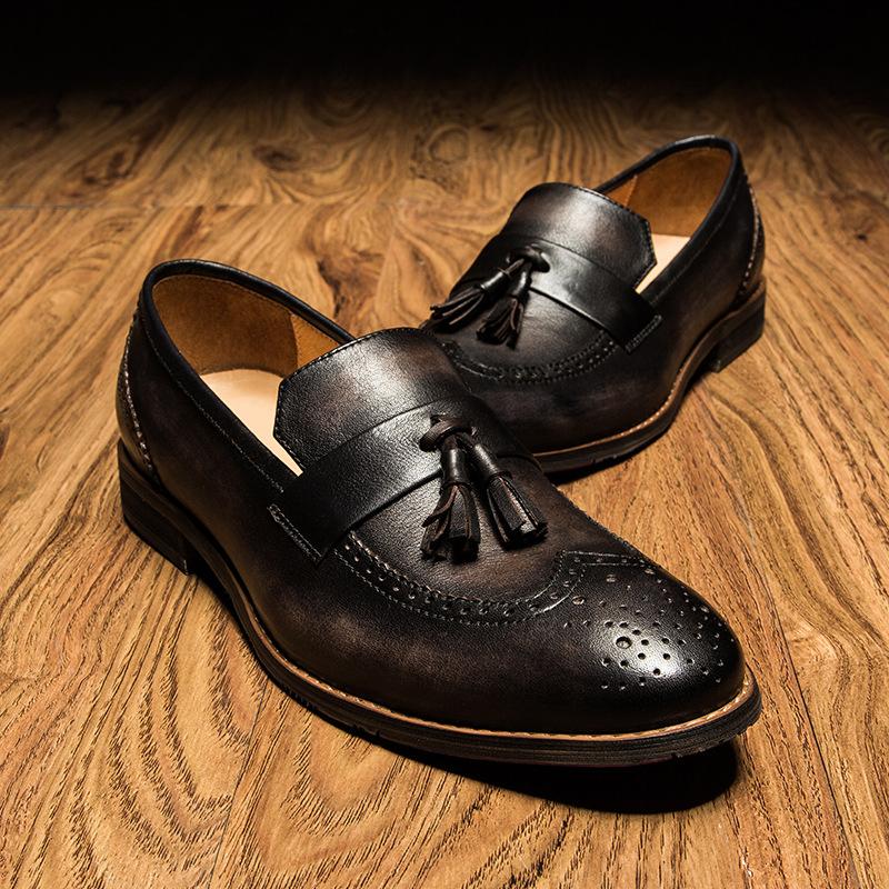 Giày lười thắt dây chuông cao cấp GD009 của đẳng cấp và sự khác biệt