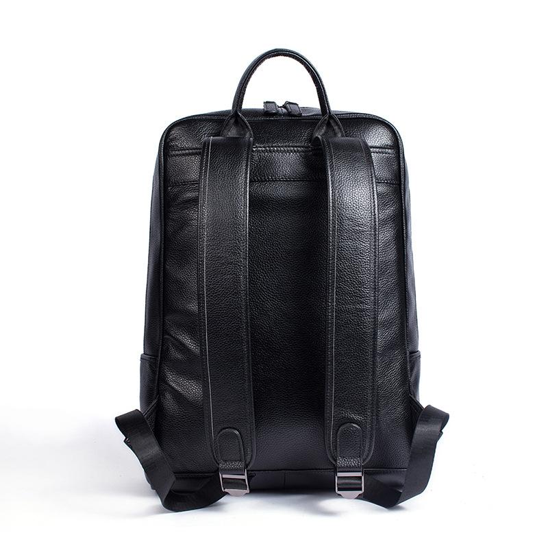 """Balo thời trang da bò laptop 118 màu đen vân hạt trẻ trung đựng laptop 17"""""""