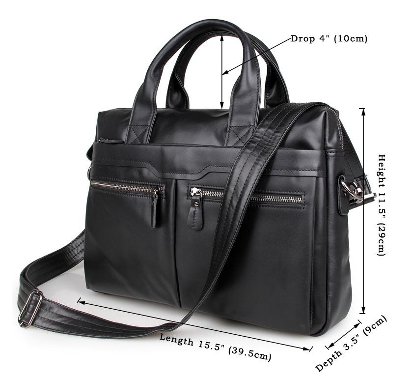 Cặp da bò công sở thời trang 547 màu đen kiểu dáng nhỏ gọn tinh tế