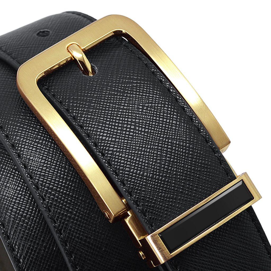 Thắt lưng da nam cao cấp TL1013 màu đen cá tính thời trang
