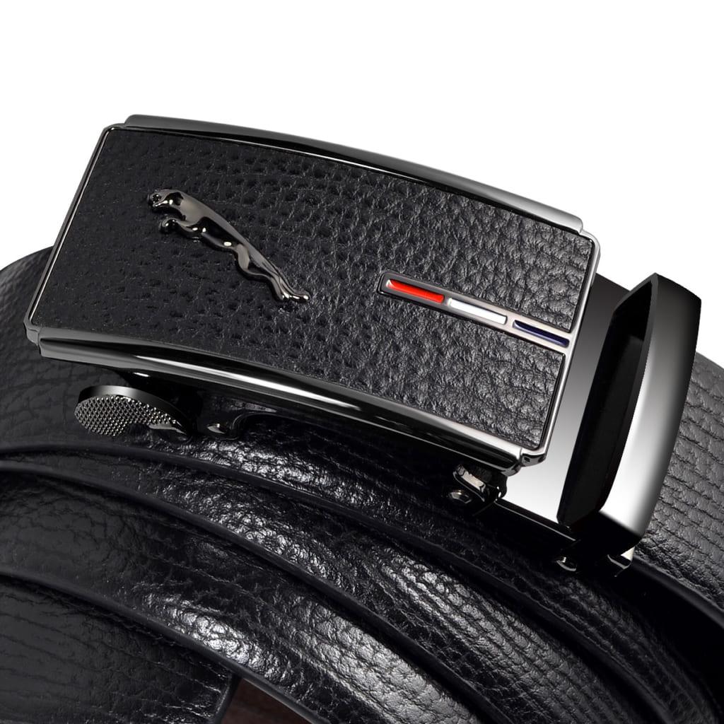 Thắt lưng da nam cao cấp TL1009 đen vân hạt sang trọng