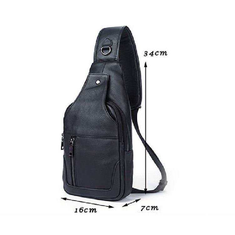 Túi bao tử da bò 905 màu đen vân chống trầy chống thấm nước