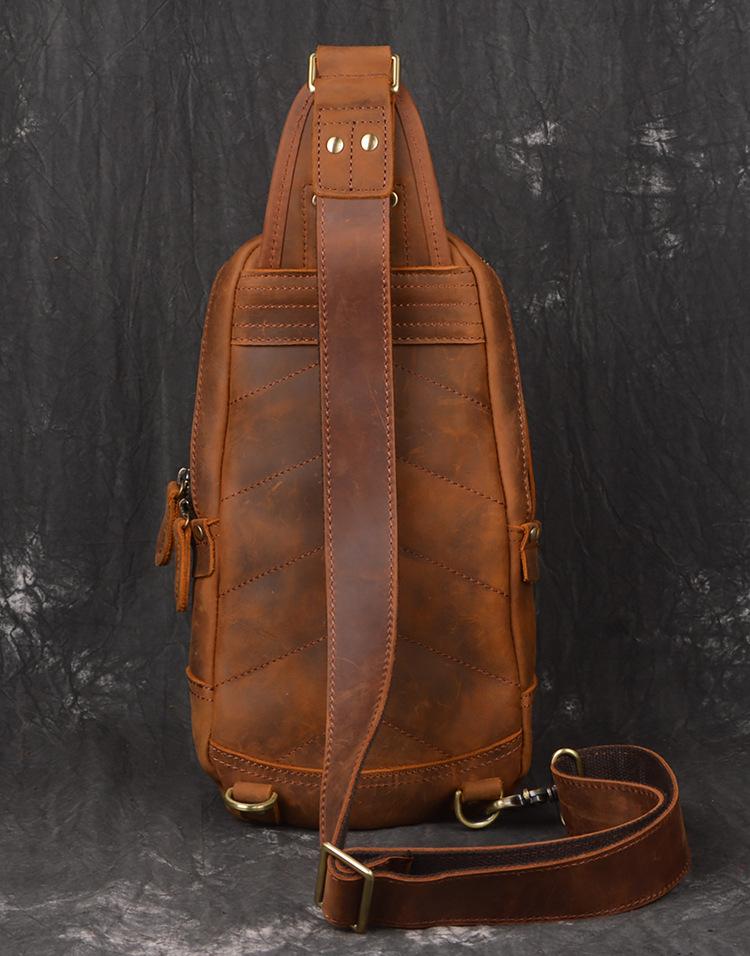 Túi da bò đeo ngực 912 kiểu dáng hợp thời trang tiện lợi