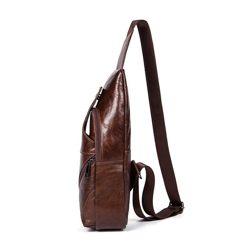 Túi da bò bao tử 913 màu nâu cafe thời trang, đựng điện thoại, ví bóp