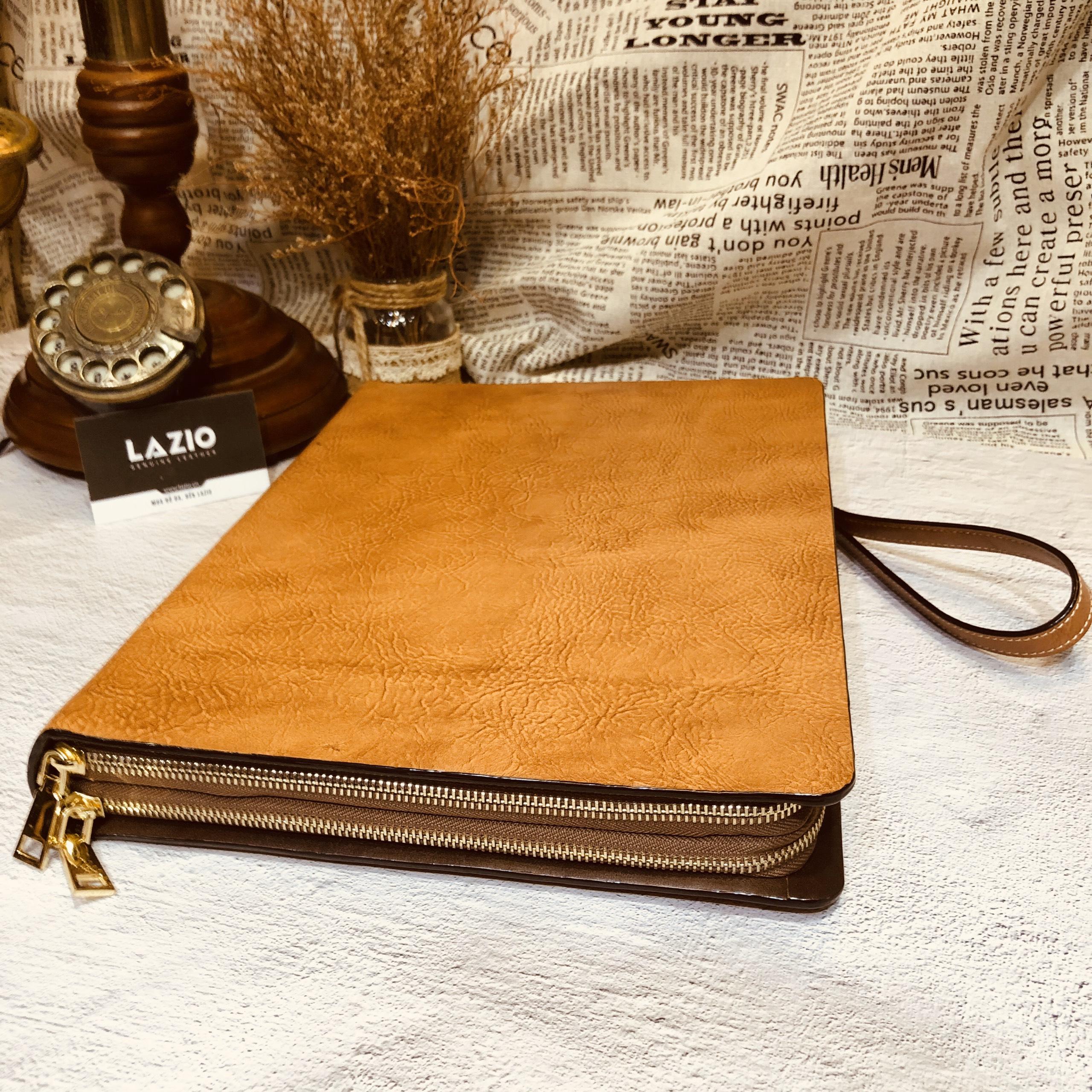 Túi hồ sơ da bò cao cấp 822 da bò xịn đựng giấy A4, macbook 13.3''